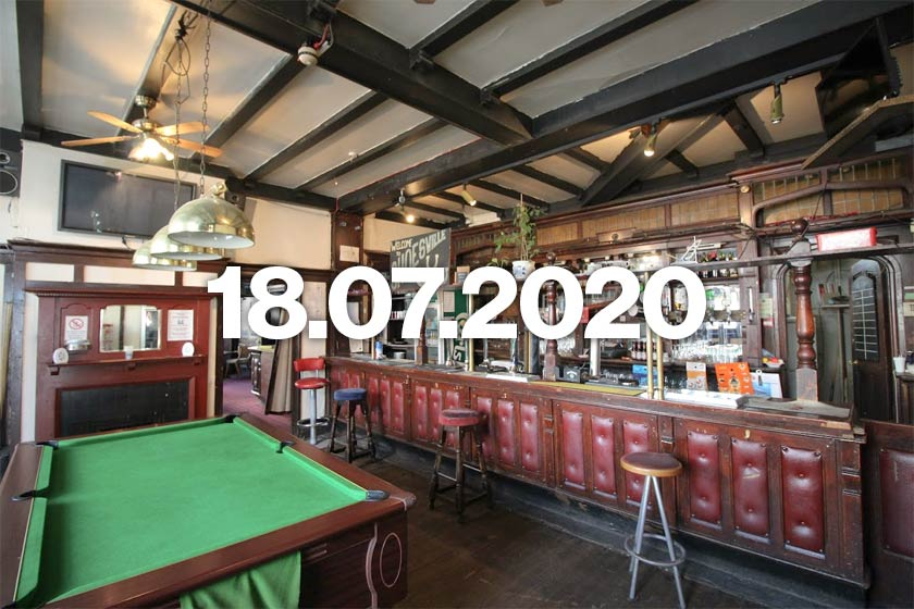 London pub with pool table.