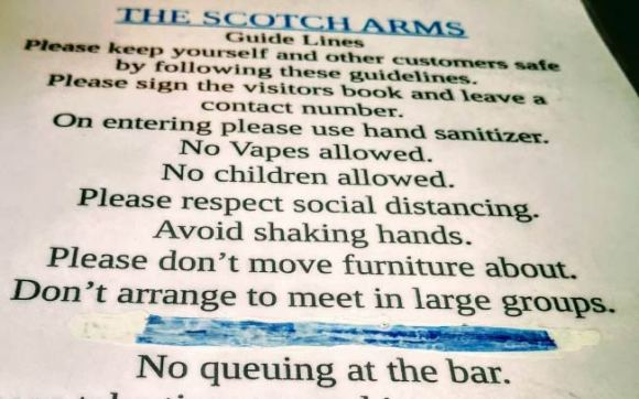 Guidelines from a pub.