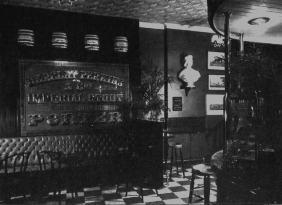 Pub interior with new Victorian style.