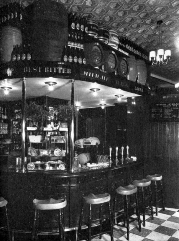 Ornate bar.
