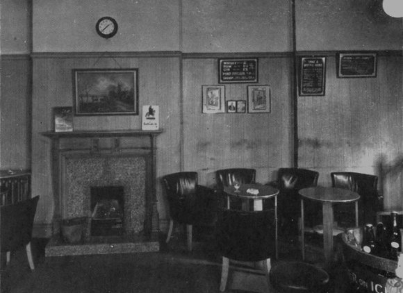 Plain pub interior.