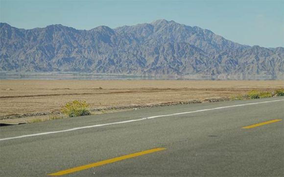 A desert highway.