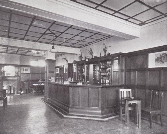 A modern bar.