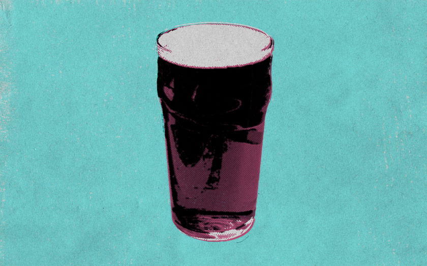 Illustration: a pint glass.