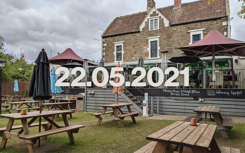 A pub beer garden