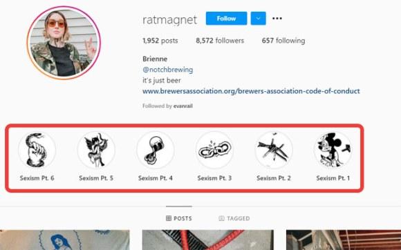 A screengrab of @ratmagnet's Instagram stories.