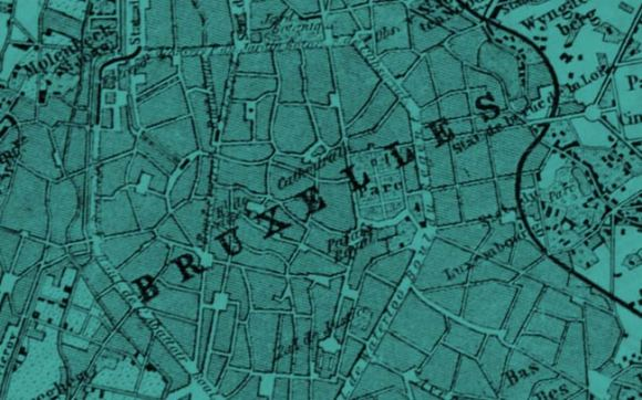 An old map of Brussels.