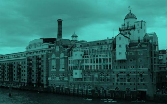 The old Courage brewery on the Thames.