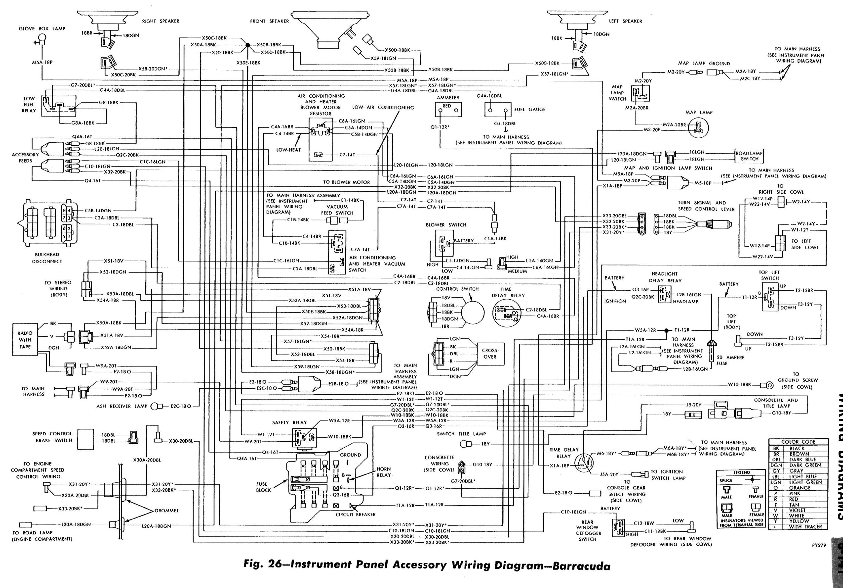 1970 Dodge Challenger Dash Wiring Diagram, 1970, Free