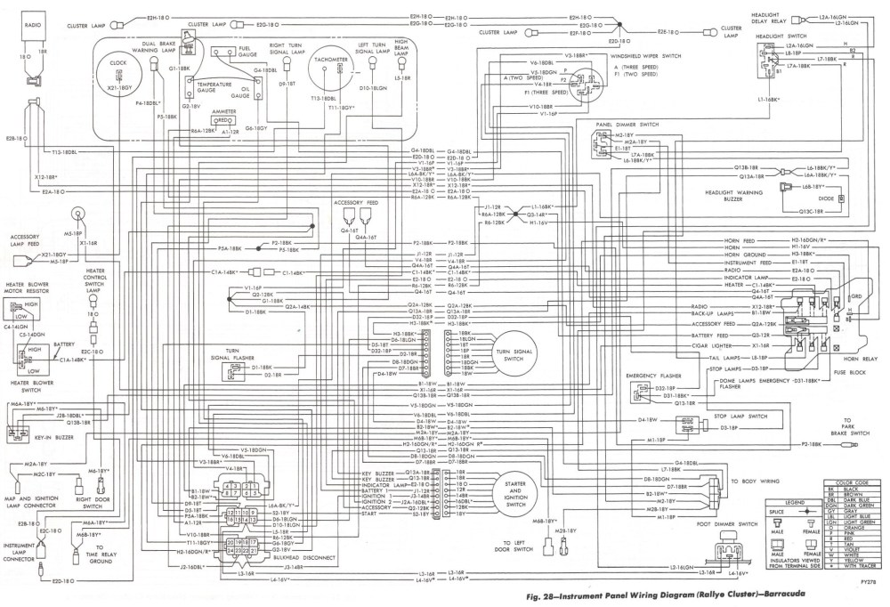 medium resolution of wrg 2891 67 plymouth barracuda wiring diagram 1970 cuda wiring harness