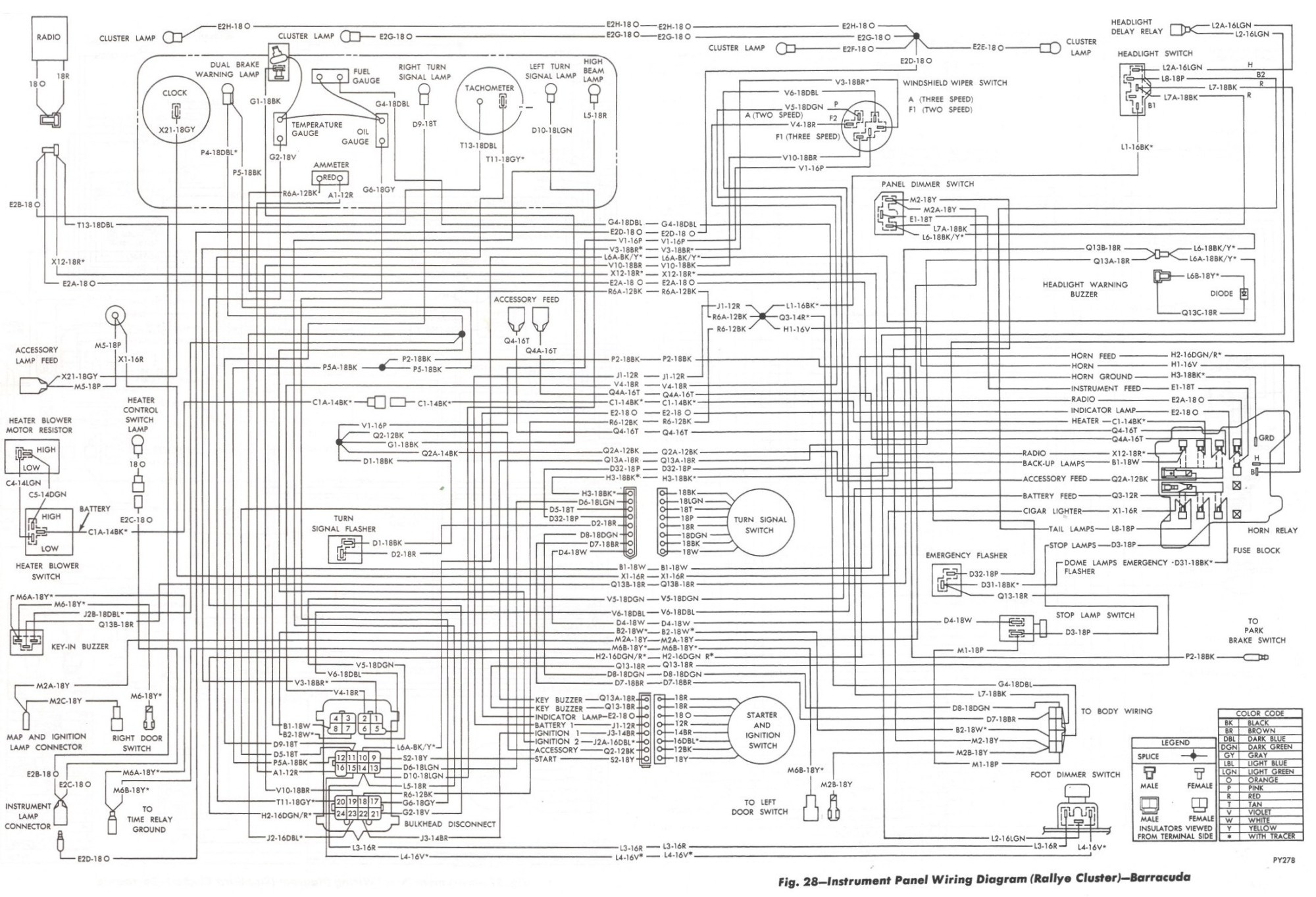 hight resolution of wrg 2891 67 plymouth barracuda wiring diagram 1964 plymouth  valiant wiring diagram 1966