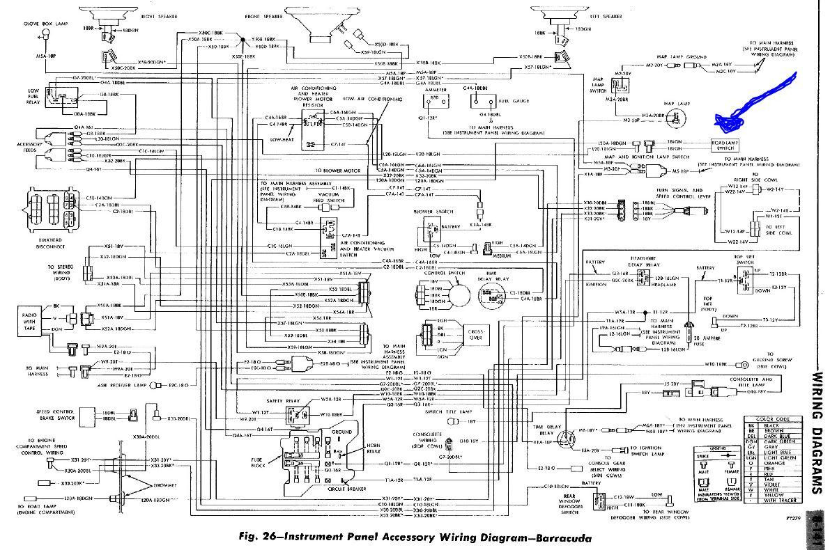 1970 cuda dash wiring harness