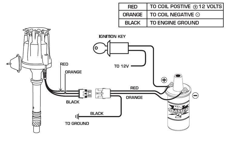 wiring diagram for msd ready to run distributor