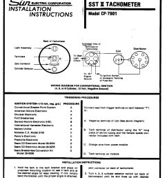 wiring harness for sun tach moparts question and answer moparts pro comp distributor wiring diagram [ 1728 x 2078 Pixel ]