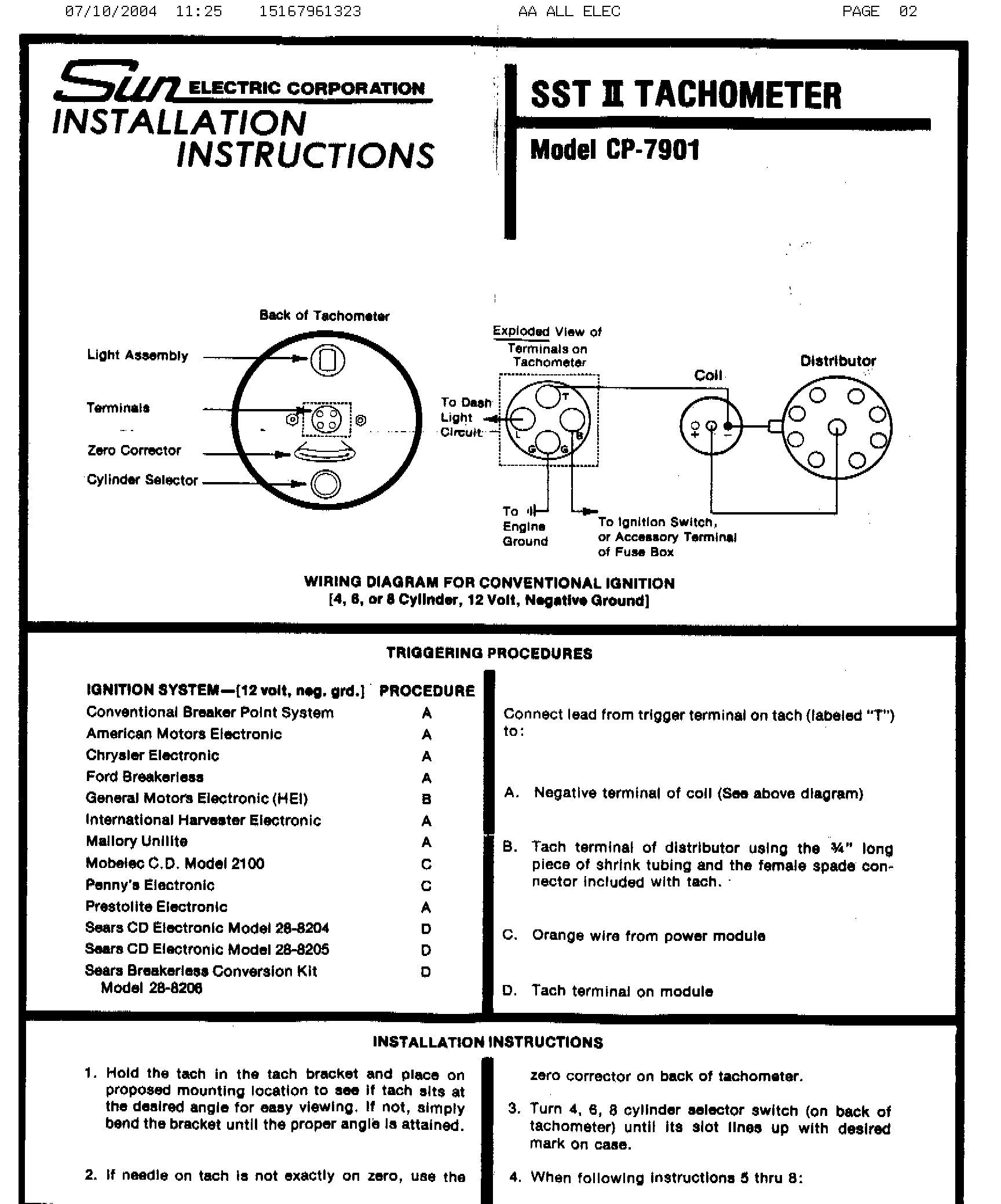 hight resolution of sunpro tach 2 wiring wiring diagram blog vintage sun tach wiring diagram sunpro tach 2 wiring