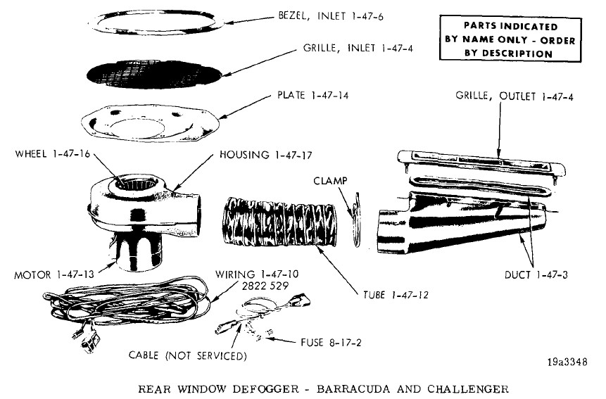 '70 Cuda Rear Defroster Set Up w/Dual Rear Speakers