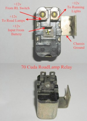 What's the difference between a 7071 cuda fog relay? | Moparts Question and Answer | Moparts Forums