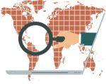 globe, world, magnifying glass