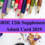 CGBSE 12th Supplementary Admit Card 2019