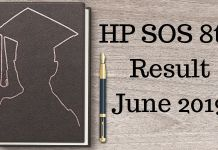 HP SOS 8th Result June 2019