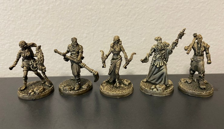 The character miniatures from Tainted Grail