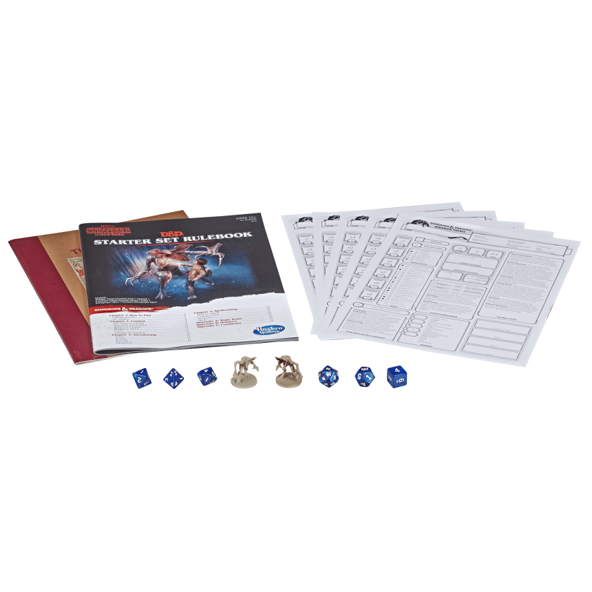 Stranger Things Dungeons & Dragons Starter Set contents