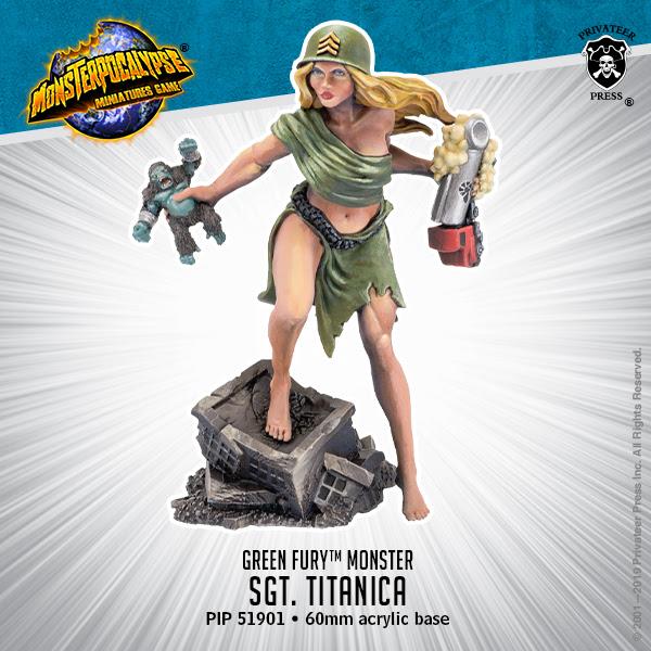Sergeant Titanica (Monsterpocalypse RAM sculpt)
