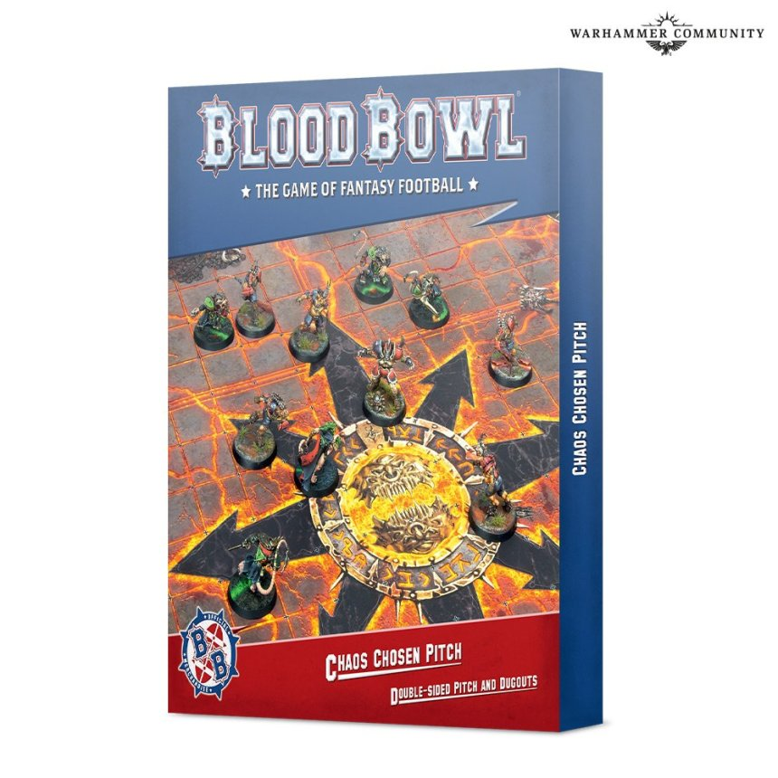 Blood Bowl Chaos Chosen Pitch and Dugouts