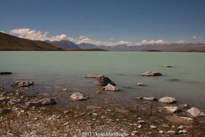 lake Tekapo, or Teka Po with its unique turquoise color