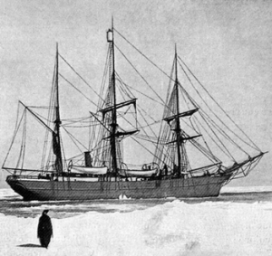 The Belgica, Gerlache's ship - stuck in the Antarctic ice, during his Antarctic Expedition
