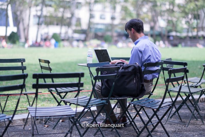 If you can work anytime, anywhere, why not in Bryant Park?