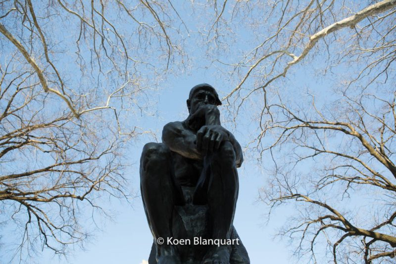 The thinker - Le penseur, by Auguste Rodin at the Rodin Museum in Philadelphia (image Koen Blanquart)