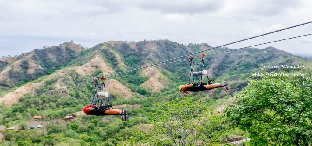 "The ""Superman"" zipline at Park Diamante, in Guanacaste Costa Rica"