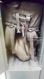 Storing my backpack in an Antwerp Luggage storage