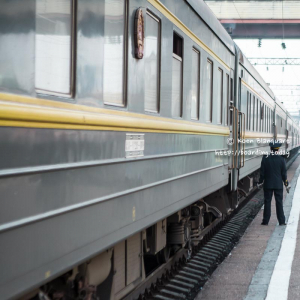 A chinese operated train on the Trans Mongolian Railway