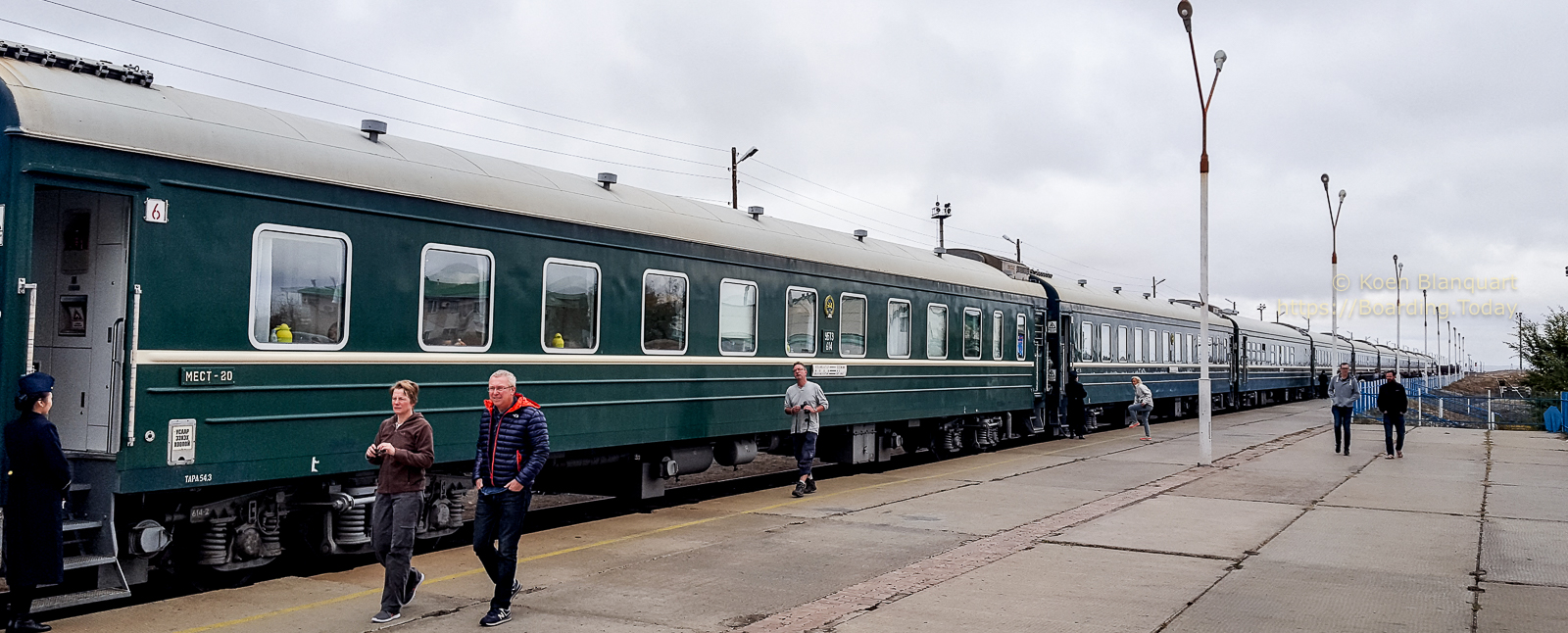 Trans Mongolian Train – heading for Beijing