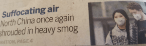 English spoken Chinese newspaper about the smog - October 2016
