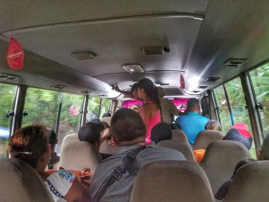 When traveling by bus in Panama, you can end up with more people than seats