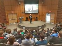 Koen Blanquart speaking about Digital Nomads at Fordham University