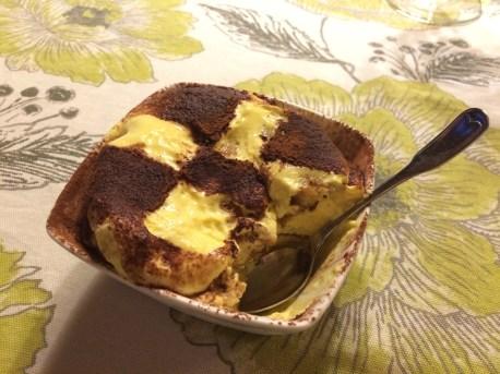Tiramisu for one for dessert