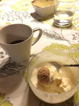 The finale - crema Fiorentina and espresso
