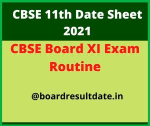 CBSE 11th Date Sheet