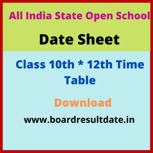 Open Board Date Sheet