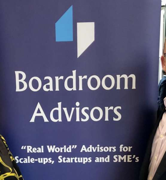 Founder and Chief Executive John Courtney with Regional Director Lisa Brook