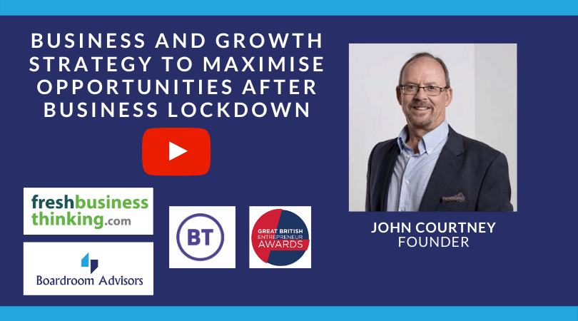 WEBINAR – Business and Growth Strategy to Maximise Opportunities after Business Lockdown