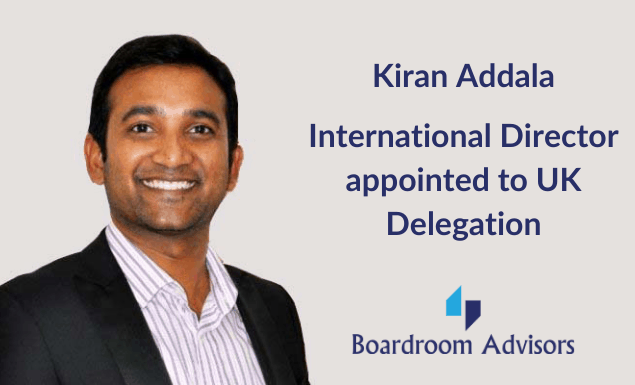 International Director Appointed to UK Delegation