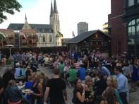 Der Rathskellar Biergarten. Big beers, live music, beautiful weather, and a crowd that is devoid of typical GenCon lurkers.