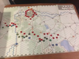 First/Second Turn Phase. The Germans are taking risks in not probing, which pays off with their surprise attack.