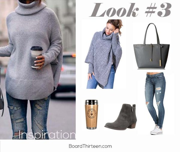 Gray casual travel look