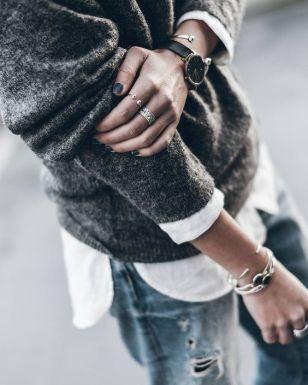 gray sweater merino wool